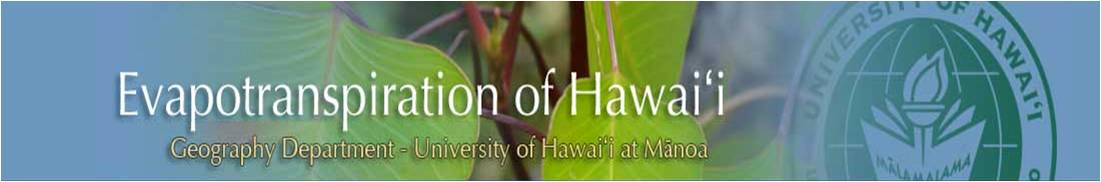 Evapotranspiration of Hawaii