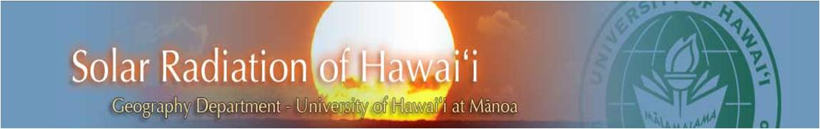Solar Radiation of Hawaii